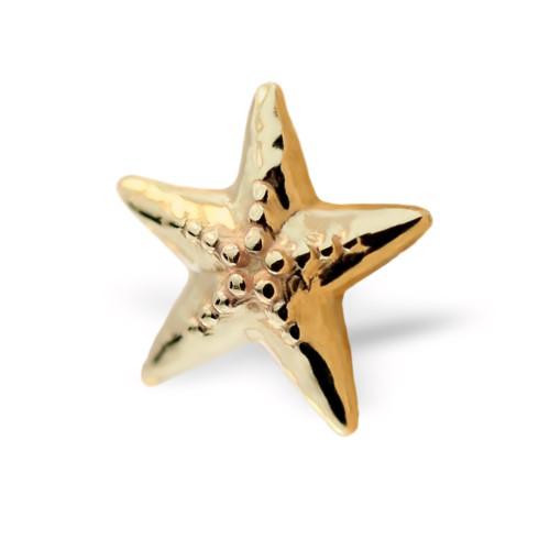 BiBi Body Jewelry, 14KY Starfish Stud Earring, No Logo