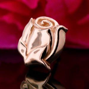 BiBi Body Jewelry, 14KR Rose Bud Stud Earring