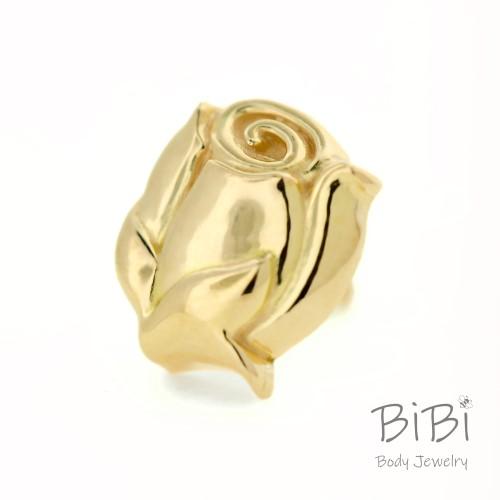 BiBi Body Jewelry, 14KY Rose Bud Stud Earring