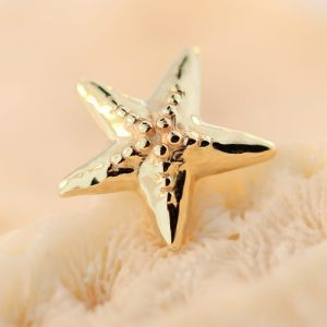 BiBi Body Jewelry, 14KY Starfish Stud Earring