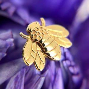 BiBi Body Jewelry, 14KY Bee Stud Earring